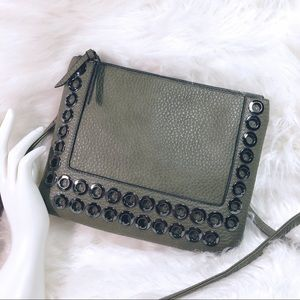 Just Fab Crossbody Faux Pebbled Leather Bag